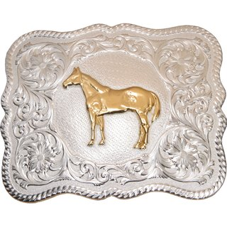 Buckle - Standing Horse by Montana Silversmith