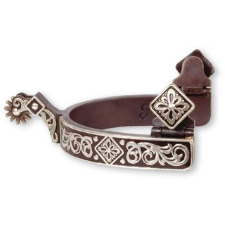 Classic Equine Sporen Diamond Scroll